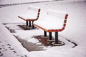 Bancos de nevados — Foto Stock