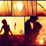 Sunset collage. — Stock Photo