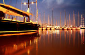 Night yachts — Stock Photo