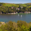 The wonderful Devon coastline outside Dartmouth, Devon — Stock Photo