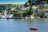 Kingswear in Devon, England, across the river from Dartmouth — Stock Photo