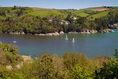 The wonderful Devon coastline outside Dartmouth, Devon — Stock Photo