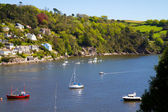 Sailing boats on the River Dart Estuary in Dartmouth — Stock Photo