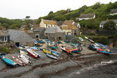 Boats at Cadgwith in Cornwall — Foto Stock