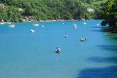 Boats on the Dart estuary — Stock Photo