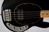 The body of a black bass guitar — Stock Photo