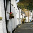 Row of cottages in Polperro, Cornwall — Stock Photo