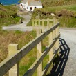 The path down to Tintagel castle on a beautiful day - Foto de Stock
