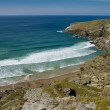 Stock Photo: View from South-West coastal path of Hole beach in Treknow, Cornwall
