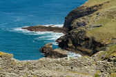 A view from Tintagel Castle in Cornwall on a sunny day — Stock Photo