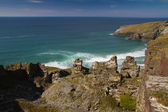 The fabulous coastline of Cornwall on a beautiful day. — Stock Photo