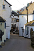 A street in Port Isaac in Cornwall — Stock Photo
