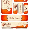 Complete Template for Cafe — Imagen vectorial