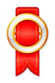Golden Badge — Stock Vector
