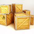 Foto Stock: Wooden Box Container