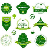 Organic Badge — Stock Vector
