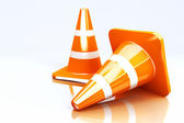 3d Under Construction Cones — Stock Photo