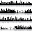 Vector City Scape — Vector de stock #10473648