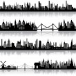 Vector City Scape - Stockvectorbeeld