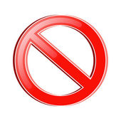 Prohibition Symbol — Stock Vector