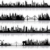 вектор городской пейзаж — Cтоковый вектор