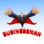 Super Business Man — Stock Vector