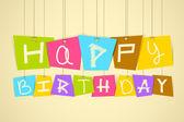 Hanging Happy Birthday — Stock Vector