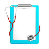 Clipboard with Stethoscope — Stock Vector