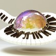 Piano Key around Disco Ball - Foto Stock