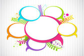 Colorful Chat Bubble — Stock Vector