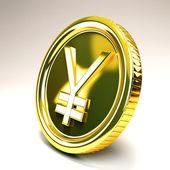 Yen Gold Coin — Stock Photo