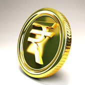 Rupee Gold Coin — Stock Photo