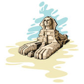 The Great Sphinx — Stock Vector