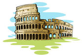 Coliseo romano — Vector de stock