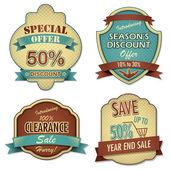 Vintage Sale Label — Stock Vector