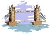 London Bridge — Stock Vector