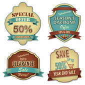 Vintage Sale Label — Stock Vector
