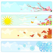 Four Season — Stock Vector