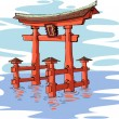 Miyajima — Stock Vector