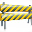 Vector Road Barrier — Stock Vector