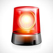 Luce d'emergenza lampeggiante rosso — Vettoriale Stock