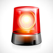Red Flashing Emergency Light — Stock Vector