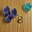 Stock Photo: Colorful paper soap roses