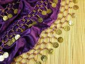 Shiny oriental scarf — Stock Photo