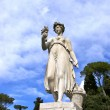 Stock Photo: Statue in piazzin Rome