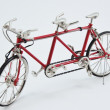 Red bicyle for two — Foto de Stock