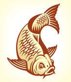 Carp Fish Cartoon — Stock Vector