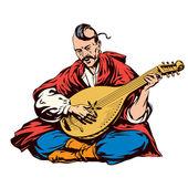 Cossack musician — Stock Vector