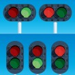 Railway Traffic Lights — Stock Vector