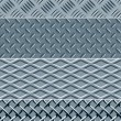 Royalty-Free Stock Vector Image: Metal texture seamless patterns